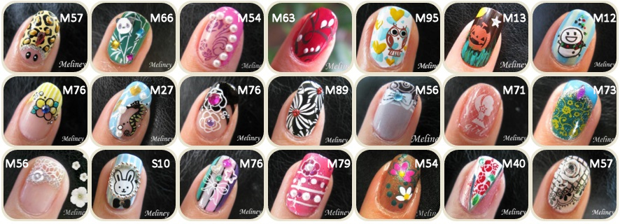 Konad Image Plates For Stamping Nail Art Designs